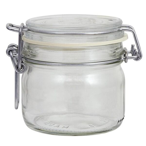 Glass Clamp Lid Jar