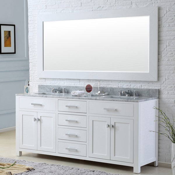 Shop Madison Solid White Double Sink Bathroom Vanity With