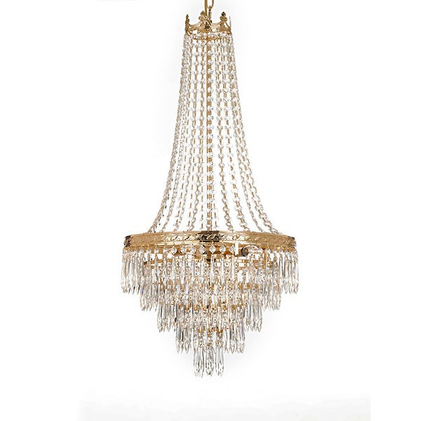 Gallery Empire Style 4 Light Gold Chandelier