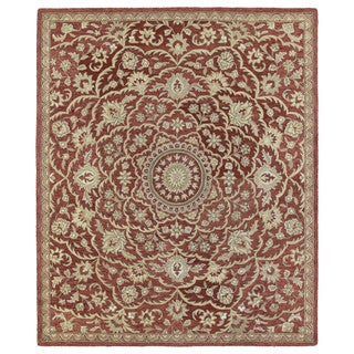 Hand-tufted Joaquin Red Medallion Wool Rug (10' x 14') - 10' x 14'
