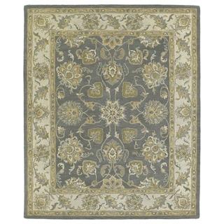 Hand-tufted Joaquin Grey Agra Wool Rug (5' x 7'9)