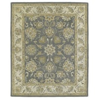 Hand-tufted Joaquin Grey Agra Wool Rug - 8' x 10'