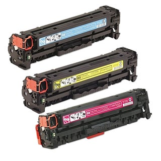 HP CC531A (HP 304A) Compatible Cyan Yellow Magenta Toner Cartridge Set (Pack of 3)