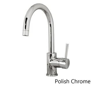 Virtu USA Keplen PSK-801 Single Handle Kitchen Faucet in Polish Chrome