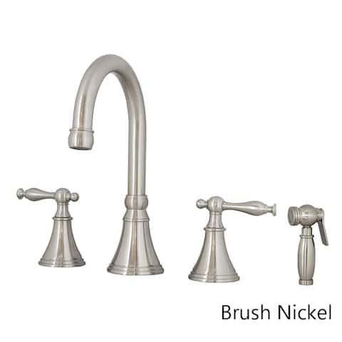 Virtu USA Poseidon PSK-1101 Widespread Kitchen Faucet in Brush Nickel