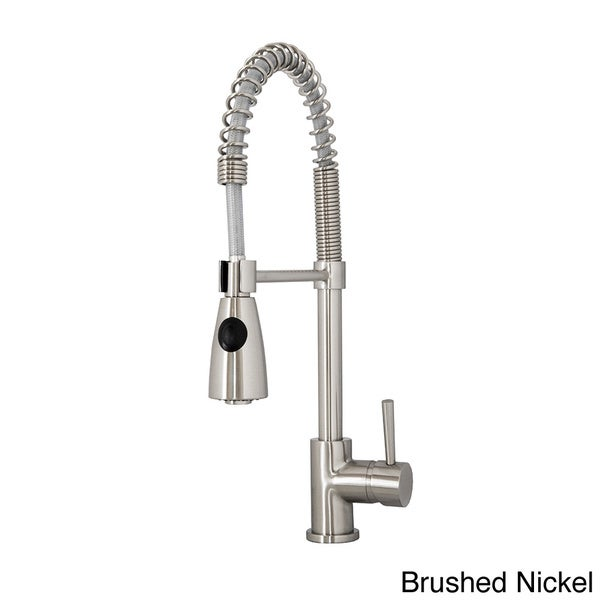 Shop Virtu USA Neso PSK-1005 Single Handle Kitchen Faucet in Brush ...