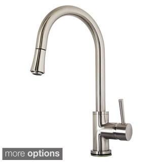 Virtu USA Sedna PSK-1003 Single Handle Kitchen Faucet in Brush Nickel or Polish Chrome