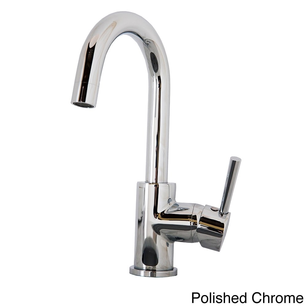 Shop Virtu USA Lithios PSK-501 Single Handle Kitchen Faucet in Brush ...