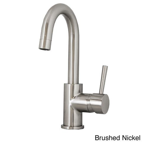 Virtu USA Lithios PSK-501 Single Handle Kitchen Faucet in Brush Nickel or Polish Chrome