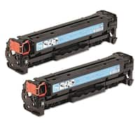 HP CC531A (HP 304A) Compatible Cyan Toner Cartridge (Pack of 2)