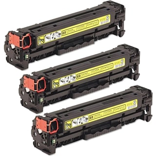 HP CC532A (HP 304A) Compatible Yellow Toner Cartridge (Pack of 3)