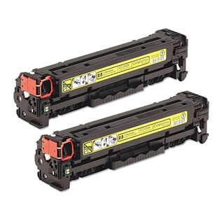 HP CC532A (HP 304A) Compatible Yellow Toner Cartridge (Pack of 2)
