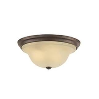 Feiss Vista 2 - Light Indoor Flush Mount, Corinthian Bronze - Brown