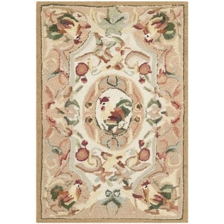 Safavieh Hand-hooked Chelsea Taupe Wool Rug (1'8 x 2'6)