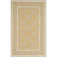 Safavieh Hand-hooked Chelsea Yellow/ Grey Wool Rug - 1'8 x 2'6