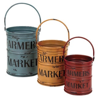 Basket with a Rich Bold Finish of Colors (Set of 3)