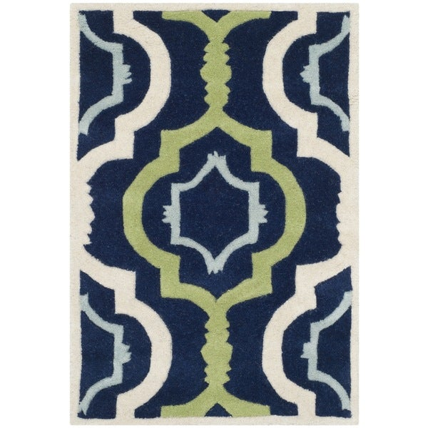 Shop Safavieh Handmade Moroccan Chatham Dark Blue Green