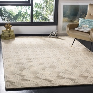 Safavieh Hand-knotted Tibetan Greek Key Cream Wool Rug (3' x 5')