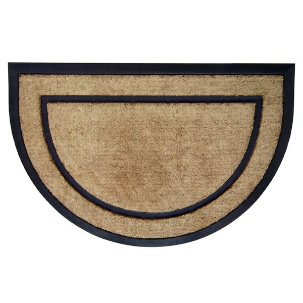 Shop Coir Rubber Frame Doormat On Sale Free Shipping