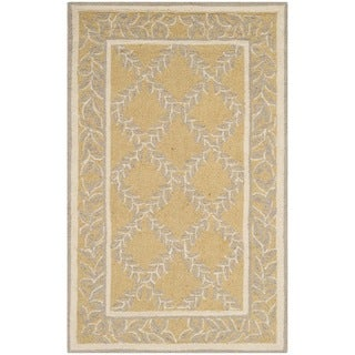 Safavieh Hand-hooked Chelsea Yellow/ Grey Wool Rug (2'6 x 4')