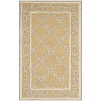 Safavieh Hand-hooked Chelsea Yellow/ Grey Wool Rug (2'6 x 4') - 2'6 x 4'