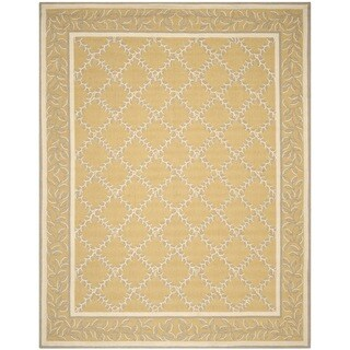 Safavieh Hand-hooked Chelsea Yellow/ Grey Wool Rug (5'3 x 8'3)