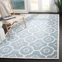 Safavieh Handmade Moroccan Chatham Blue/ Ivory Wool Area Rug - 8' x 10'
