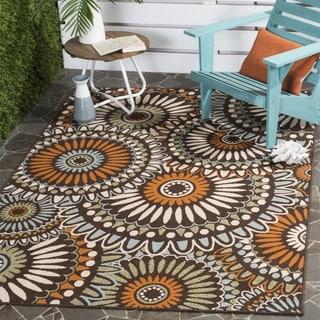 Safavieh Indoor/ Outdoor Veranda Chocolate/ Terracotta Rug (2'7 x 5')