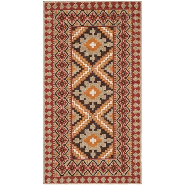 Shop Safavieh Indoor Outdoor Veranda Red Natural Rug 2