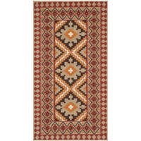 Safavieh Indoor/ Outdoor Veranda Red/ Natural Rug - 2'7 x 5'