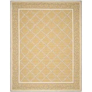 Safavieh Hand-hooked Chelsea Yellow/ Grey Wool Rug (7'9 x 9'9)