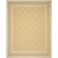 Safavieh Hand-hooked Chelsea Yellow/ Grey Wool Rug - 7'9 x 9'9