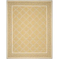 Safavieh Hand-hooked Chelsea Yellow/ Grey Wool Rug - 8'9 X 11'9
