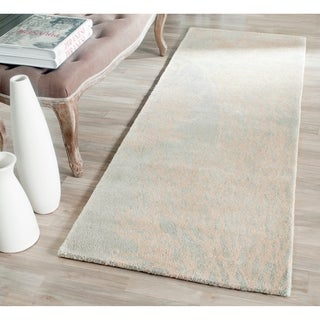 Safavieh Handmade Bella Gray/ Ivory Floral Wool Rug (2'3 x 7')