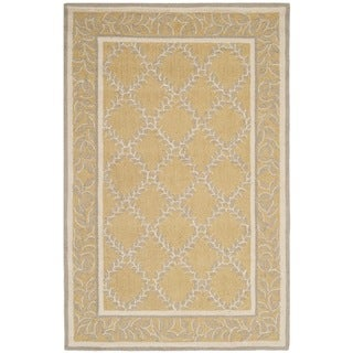 Safavieh Hand-hooked Chelsea Yellow/ Grey Wool Rug (3'9 x 5'9)