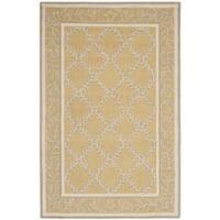 Safavieh Hand-hooked Chelsea Yellow/ Grey Wool Rug - 3'9 x 5'9