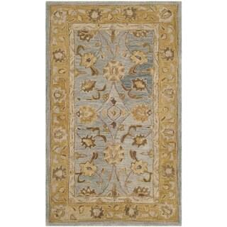 Safavieh Handmade Anatolia Oriental Blue/ Green Hand-spun Wool Rug (3' x 5')