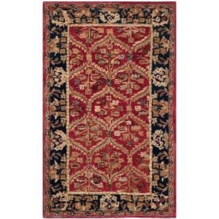 Safavieh Handmade Anatolia Red/ Navy Wool Rug (3' x 5')