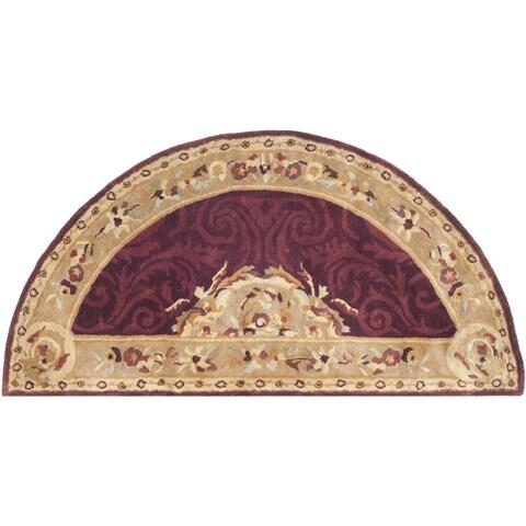 Safavieh Handmade Empire Dark Red/ Dark Beige Wool Rug - 2'6 x 5'