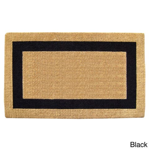 "Heavy-Duty Coir Single Picture Frame Doormat - 2'6"" x 4' - 2'6"" x 4'"