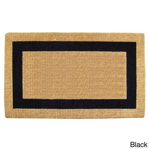 "Heavy-Duty Coir Single Picture Frame Doormat - 2'6"" x 4'"