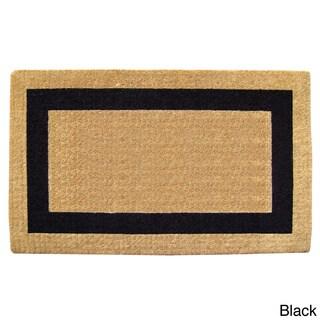 Heavy-Duty Coir Single Picture Frame Doormat - 2'6 x 4'