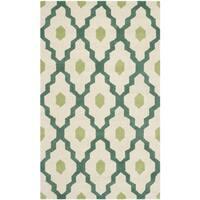 Safavieh Handmade Moroccan Chatham Ivory/ Teal Wool Rug (3' x 5') - 3' x 5'