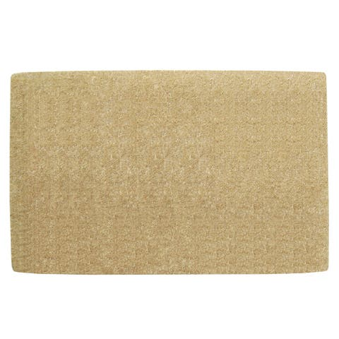 Nedia Home Light Brown Coir Heavy-duty Borderless Doormat