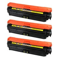 HP CE272A (HP 650A) Compatible Yellow Toner Cartridge (Pack of 3)