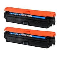 HP CE271A (HP 650A) Compatible Cyan Toner Cartridge (Pack of 2)