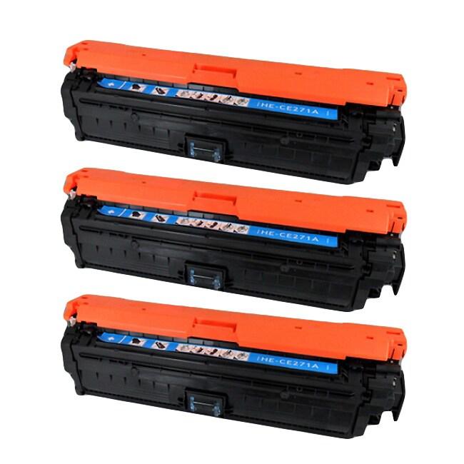 3 Pack 650A CE271A Color Toner Cartridge Set for HP Laserjet Enterprise M750dn