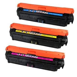 HP CE271A (HP 650A) Compatible Cyan Yellow Magenta Toner Cartridge Set (Pack of 3)