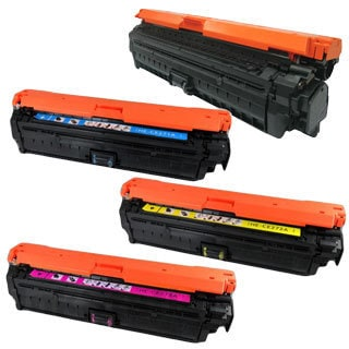 HP CE270A (HP 650A) Compatible Black, Cyan, Yellow, Magenta Toner Cartridge Set (Pack of 4)
