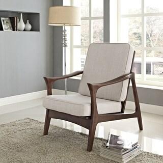 Canoe Brown Wood Mid Century Lounge Chair